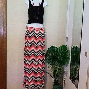 Dresses & Skirts - Aztec chevron maxi skirt